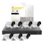 Kit Hikvision 1.3 Megapixel 7 Cámaras / Switch / Cables / HDD [SYSCOM]