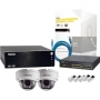 NS1040KIT2 SYSCOM - Sistema Completo Megapixel con Hikvision DS2CD2112I, Cable y Switch PoE