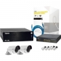NS1040KIT3 SYSCOM - Sistema Completo Megapixel con Hikvision DS2CD2012I, Cable y Switch PoE